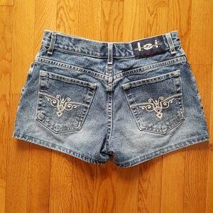 RARE Vintage 90's Western l.e.i. Jeans Shorts Boho
